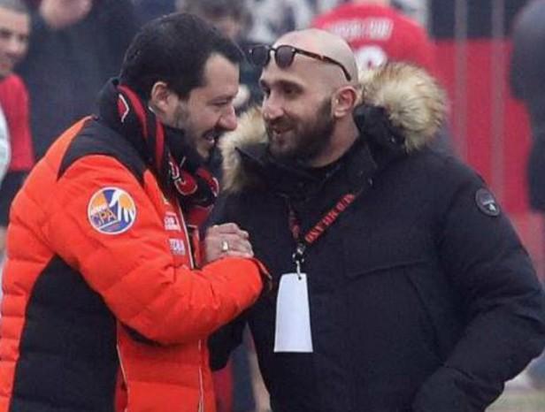 Salvini con Lucci, Ultras condannato del Milan