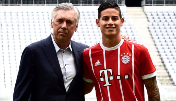 Ancelotti e James