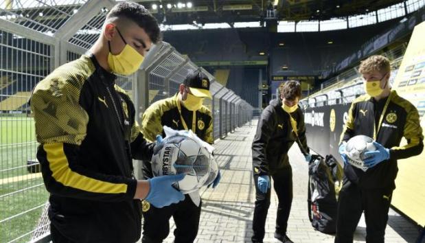 La disinfezione dei palloni
